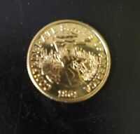 1861 Confederate States Of America C.S.A 5 dollar Restrike Gold Coin chain
