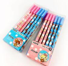 Rilakkuma bears cute kawaii kitsch set of 4 refillable black ink gel pens