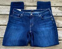 "Silver Boyfriend Slim Leg Mid Rise Jeans Plus Size 18 x 29 NWT New Blue 11"" Rise"