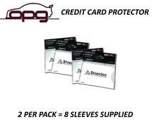 RFID Blocking Shieldex Credit Card Protector Sleeve Anti Theft Scan Safe X 8