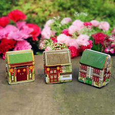 House Tea Tin Candy Box Storage Organizer for Jewelry Christmas Gift Container