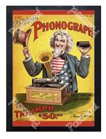 Historic Edison Triumph Phonograph Advertising Postcard