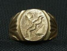 True vintage Ring Rockabilly 50´s ... 70´s 18k 750 Gold? Goldfield? vergoldet?