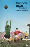 Football Programme - Swindon Town v Bolton Wanderers - Div 2 - 31/1/1970