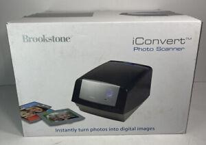 "Brookstone iConvert Instant Digital Photo Scanner 3 x 5"", 4 x 6"", 5 x 7"" 593715"