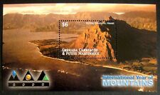 2002 MNH GRENADA YEAR OF THE MOUNTAINS STAMPS SOUVENIR SHEET LANDSCAPE SCENIC