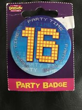 16th birthday badge New In Packaging. Party Time