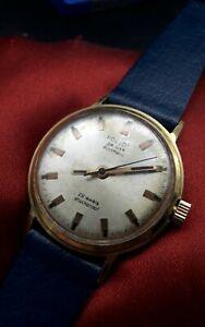 Poljot Deluxe 29 Jewels Vintage Uhr  60er Jahre, Automatik, Band ungetragen