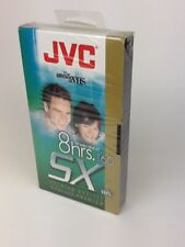 JVC Premium Quality  SX 160 8 Hour Blank VHS Video Recordable Tape Sealed