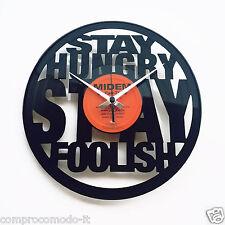 Orologio in disco vinile lp 33 giri orologio cameretta bar ufficio Jobs