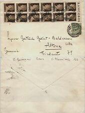 REGNO-Blocco dodici 10c Imperiale(245)+5c Leoni(81)-Busta Roma->Altona 21.8.1929