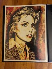 Debbie Harry Canvas 2010 | Shepard Fairey Print Poster Blondie Signed