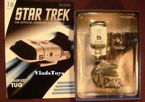 Short-range Starfleet Tug Eaglemoss Star Trek Shuttlecraft Issue #18 w/Magazine