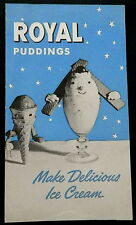 1939 Royal Puddings Leaflet ADVERTISING AND RECIPES