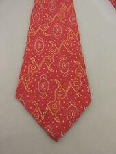 """Brittania vintage Necktie mens neck tie 4 1/2"""" pink red yellow hippie retro"""