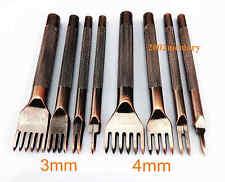 8pcs Leather Craft Sewing Stitch Diamond Chisel Pricking Iron Punch Tool Kit Set