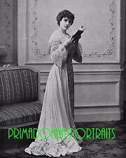 """EVE LAVALLIERE 8X10 Lab Photo B&W 1902 """"LES DEUX ECOLES"""" THEATER ACTRESS"""