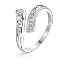 Fashion 925 Sterling silver Zircon Lady Cute wedding Austria crystal Ring
