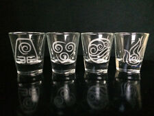 Avatar the Last Airbender Shot Glass -Set of 4- Air- Fire- Earth- Water