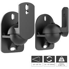 Universal Satellite Speaker Wall Mount Brackets Adjustable Tilt Swivel (Pair)