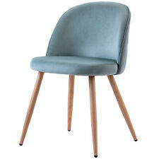 More details for dining chairs set of 2 kitchen dining upholstered modern chairs with solid sr