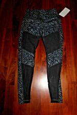 NWT Lululemon Hot to Street pant black and white mesh 8 medium NWT