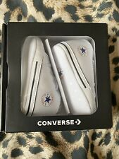 Converse All Stars White Baby Crib Shoes Size 3