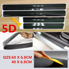 Parts Accessories Carbon Fiber Car Scuff Plate Door Sill 5D Sticker Protector