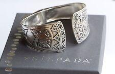 Silpada NIB Willow Hinge Etched Sterling Silver Hingled Cuff Bracelet B3322 $299