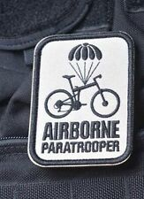 Airborne Paratrooper Bike Parachute Embroider Hk/Lp Patch TAN 82nd 101st HALO