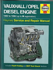 Vauxhall Opel Diesel Engine 1982-96 Nova Corsa Astra & Van Kadett Haynes Manual