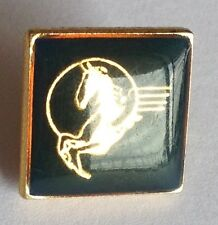Pegasus Black Corporate Mythical Creature Pin Badge Rare Vintage (E1)