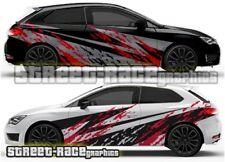 Seat Leon FR Cupra Rally 008 grunge mud splatter graphics stickers decals vinyl