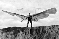 New 5x7 Photo: German Aviation Pioneer Otto Lilienthal with his Soaring Glider