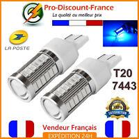 2 x Ampoule 33 LED T20 7443 W21 5W BLEU Feux De Jour Brouillard Tuning blue