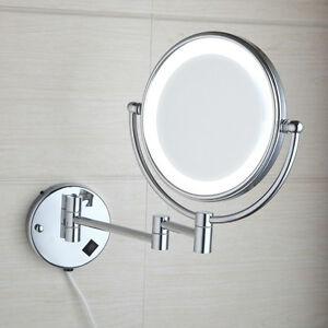 Bathroom Make Up LED Light 3X Magnify Make Up Mirror Beauty Wall Mounted Folding