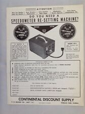 Vintage Speedometer Re-Setting Machine Pamphlet