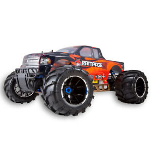 Redcat Racing Rampage Mt V3 1/5 Scale Gas 4Wd RC Monster Truck Orange/Flame