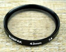 SUNPAK Skylightfilter 1A FILTER SKYLIGHT 43mm M43 Schraubfassung (O3074