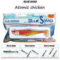 FLASHMER : BLUE SHAD ATOMIC CHICKEN : anti accroche, aromatisé, texan