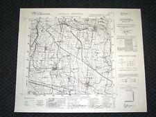 Grande carta topografica Grumello Cremonese e dintorni Dettagliatissima I.G.M.