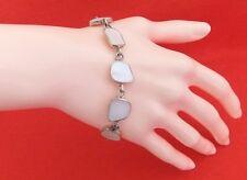 Vintage 925 Sterling Silver Mother Of Pearl Bracelet