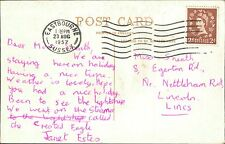 Janet Estes. 1957. Miss Sneath. 8 Egerton Road, Lincoln.   JE.691