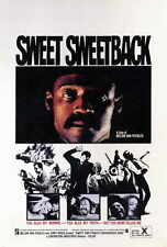 SWEET SWEETBACK'S BAAD ASSSSS SONG Movie POSTER 27x40 Simon Chuckster Melvin Van