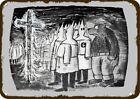 1966 SMOKEY THE BEAR MAD at KU KLUX KLAN FIRE Vintage-Look DECORATIVE METAL SIGN