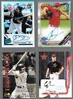 baseball+autograph+cards++4+card+lot
