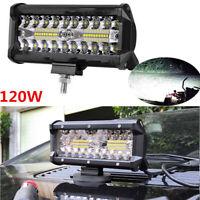 120W LED LUCE FARO 12.000 lumen LAMPADA DA LAVORO Faretto Per AUTO BARCA CAMION