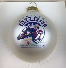 NIB 1994 120th Kentucky Derby Glass Ball Christmas Ornament Go For Gin Winner