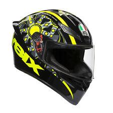 Agv K1 Top Flavum 46 Helmet Valentino Rossi Size S 55 56 Visor Pinlok Full Face