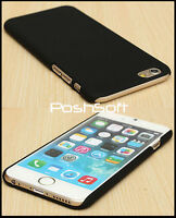 Black Matte Ultra-Thin Rubberized Hard Back Cover Case for Apple iPhone 6S